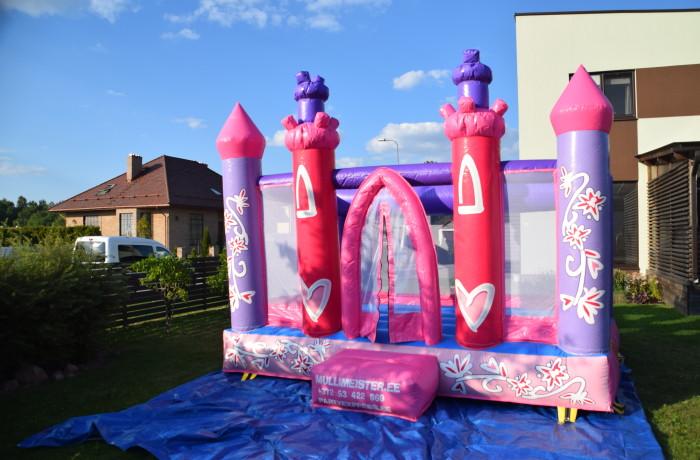 Розовый замок / батут для маленьких принцесси рыцарей / 4LX3WX3H/2-5лет